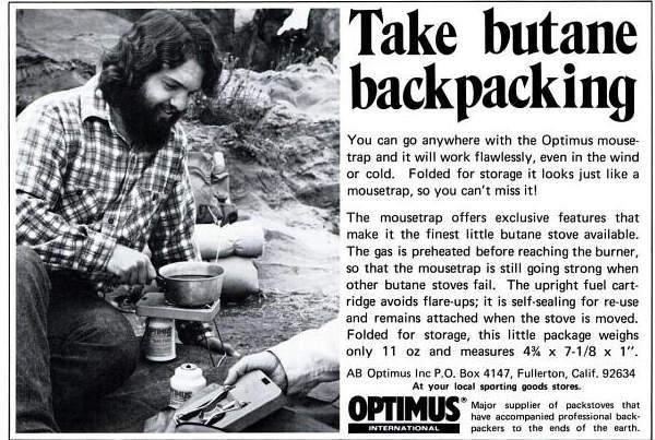 Take Butane Backpacking