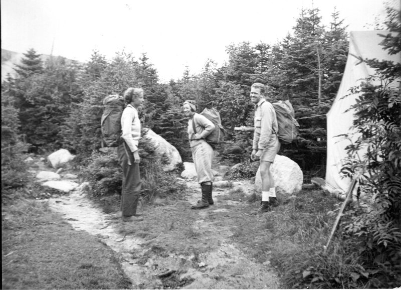 Hikers at Chimney Pond (1939)