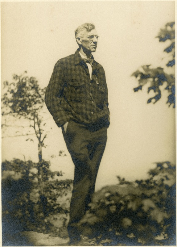 Benton MacKaye on Whiteside Mountain, N.C. (1934)