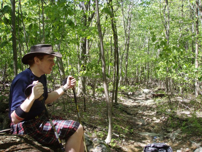 Hiker in Kilt