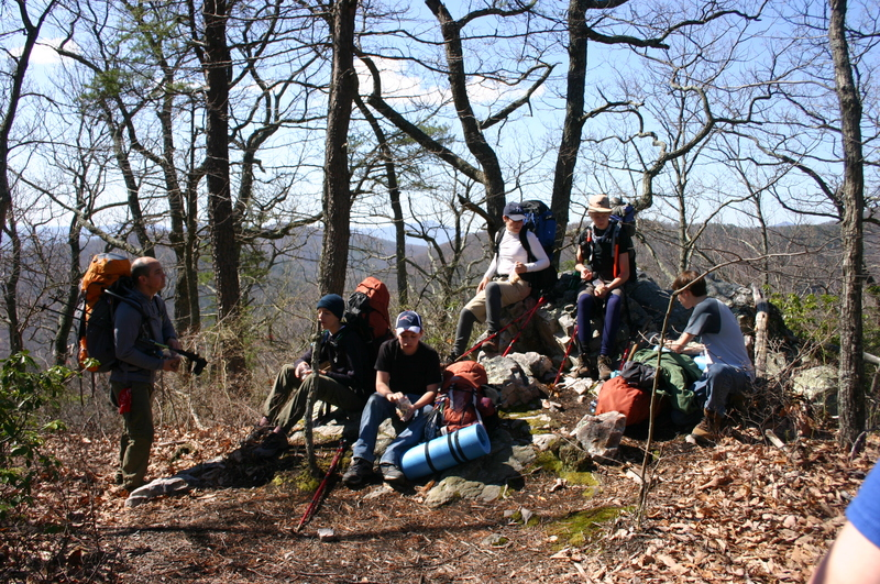 Group of Hikers on the Appalachian Trail