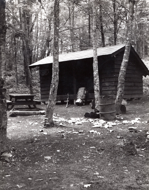 Trash Left By Hikers at the Wiggins Shelter (1970)