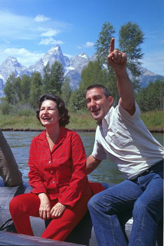 Stewart Udall and Lady Bird Johnson (1964)