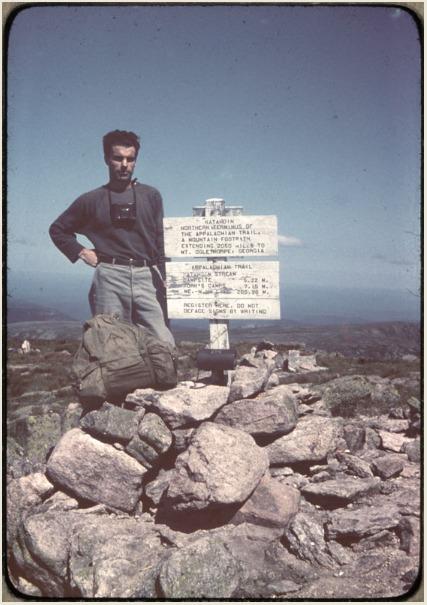 Earl Shaffer at Mt. Katahdin, 1948