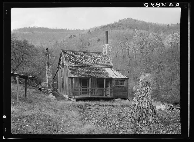 Home of a mountain family who will be resettled on new land.