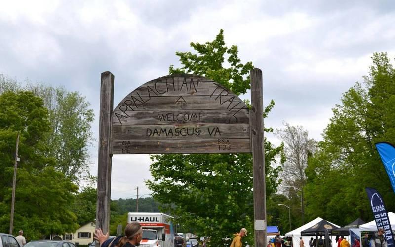 Appalachian Trail Sign in Damascus, VA