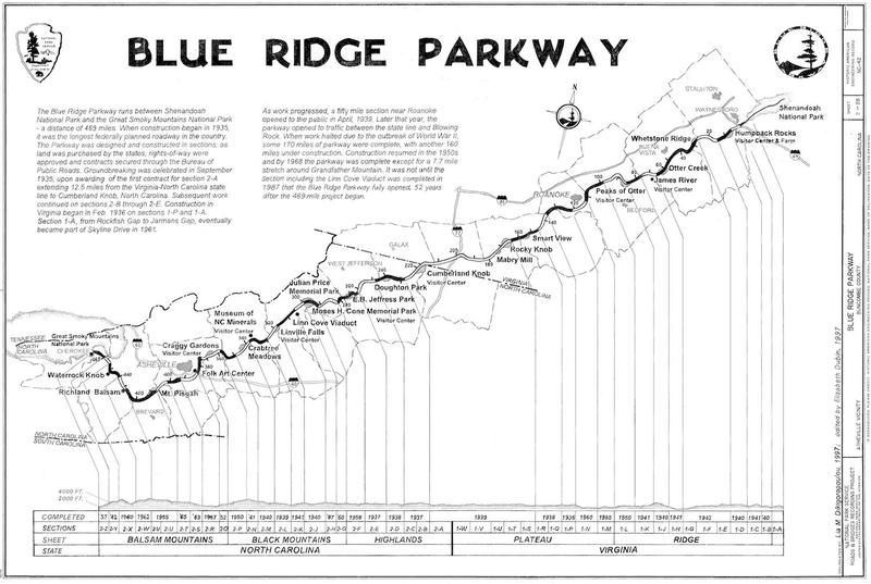 Blue Ridge Parkway, Between Shenandoah National Park & Great Smoky Mountains, Asheville, Buncombe County, NC.