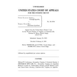 United States Court of Appeals For the Fourth Circuit Case of United States of America v. Darrell David Rice (2001)