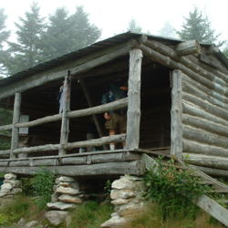 Goddard Shelter on the Appalachian Trail and Long Trail in Southern Vermont (2002)