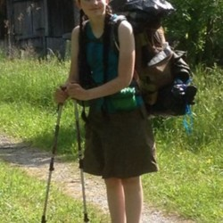 Hiker Bethany Shoop in a Skirt