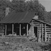 Corbin Cabin under renovation (1954)