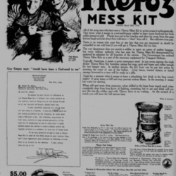 1918 full page newspaper ad in the New-York Tribunefor a Theroz Mess Kit
