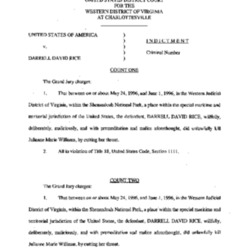 United States District Court's Indictment of Darrell David Rice