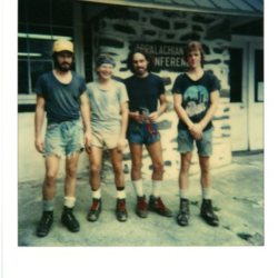 Hikers Dennis, Jim, George, and Kevin, August 15 1979